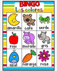 Juego bingo de los colores para aprender los colores Color Activities, Toddler Activities, Spanish Language Learning, 4 Kids, Games For Kids, Kid Games, Back To School, Kindergarten, Homeschool