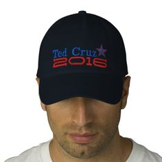Ted Cruz For President 2016 Star Embroidery