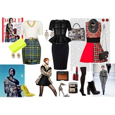 """""""She's Gone PLAID!"""" by theworkingbritt on Polyvore"""