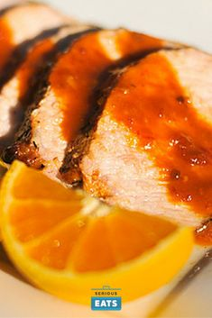 A chipotle and orange reduction creates a potent sauce that adds a sweet, smoky, and spicy note to juicy grilled pork loin.