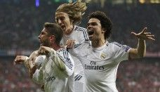 Madrid vs Bayern Players Celebrations