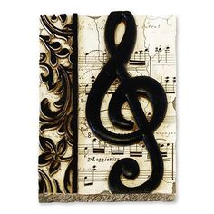 Music Decor!  I can't wait to re-do our living room and music room with this stuff!