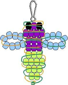 how to make simple dragonfly out of beads and string - Google Search