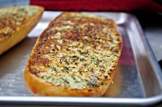 Easy, delicious and semi-homemade Parmesan garlic bread is great with spaghetti, lasagna and just about anything!