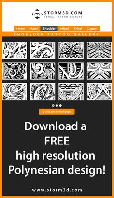 Check My New Website And Download A Free Maori Inspired Tattoo In High Resolution I