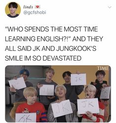 I'm proud 🙌 and that smile though 😍 Bts Namjoon, Bts Bangtan Boy, Bts Jungkook, Taehyung, Seokjin, Hoseok, Jikook, Bts Memes Hilarious, Bts Tweet