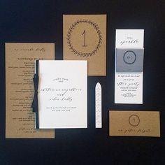 A new #script we're big fans of #papergoods #stationery scorecard #programs #tablenumbers #menus #1440 #fourteenforty