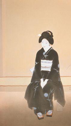 Traditional Japanese Art, Japanese Modern, Japanese Prints, Japanese Culture, Vintage Japanese, Japanese Folklore, Japanese Geisha, Young Girl Fashion, Japanese Embroidery