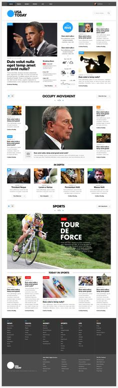 USA Today - Outro Lado - wish it was printed exactly like this. Almost feels like we don't see enough of the design online USA Today - Outro Lado - wish it was printed exactly like this. Almost feels like we don't see enough of the design online Interaktives Design, News Web Design, Layout Design, Graphic Design, Usa Today, Interface Web, Interface Design, Website Design Inspiration, Web Layout