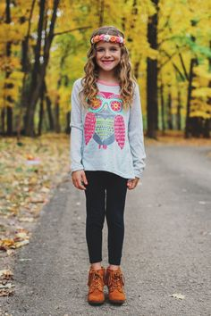 Kids Owl Graphic Top – UOIOnline.com: Women's Clothing Boutique
