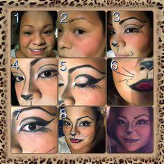 Halloween kitty makeup