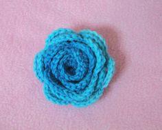 Πλεκτο Τριανταφυλλο / Crochet Easy Flower Tutorial #2 - YouTube