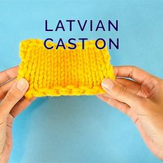 Simple Way to Make an Elastic Cast on Edge - Knitting for beginners,Knitting patterns,Knitting projects,Knitting cowl,Knitting blanket Cast On Knitting, Knitting Videos, Crochet Videos, Knitting For Beginners, Knitting Stitches, Knitting Patterns Free, Knit Patterns, Free Knitting, Knitting Basics