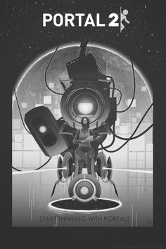 Vintage Portal Poster by Portal Art, Portal 2 Game, Portal Wheatley, Valve Games, Aperture Science, Half Life, Futuristic Art, Anubis, Wattpad