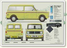 Mini Clubman Estate 1969-80 classic car portrait print