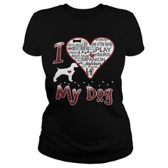 Awesome Tee  I LOVE MY DOG Brittany Spaniel Shirts & Tees