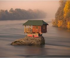 RIver House on the Drina River in Serbia