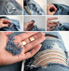 Imagem de jeans, diy, and cool