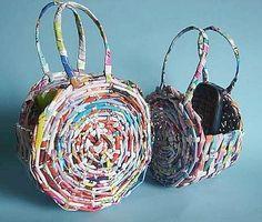 Woven Paper Handbag