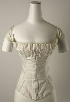Corset, dated 1820-30, American, Metropolitan Museum of Art collection: 1999.216.6.
