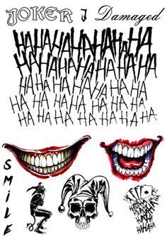 Details about The Joker Temporary Tattoos Suicide Squad Costume Halloween Batm . - Details on The Joker Temporary Tattoos Suicide Squad Halloween Batman Costume- show original title - Le Joker Batman, Harley Quinn Et Le Joker, Der Joker, Harley Quinn Tattoo, Halloween Costume Props, Joker Halloween, Halloween Outfits, Batman Tattoo, Joker Tattoos