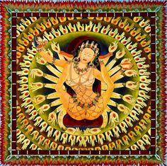 Yoni - Vulva/vagina the primary Tantric object of worship, symbolized variously by a triangle, fish, double-pointed oval etc. Buddha Kunst, Buddha Art, Tantra Art, Tibet Art, Kali Goddess, Wheel Of Life, Tibetan Buddhism, Hindu Art, Sacred Art