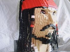 48 of the Coolest, Stylish and Creative Lego Creations - Captain Jack Sparrow