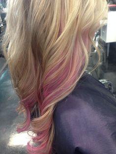 Pravana pink, splash of pink, pink hair, peek a boo pravana pink vivids, vivids, pravana vivids