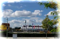Blick von der O2 World in Berlin zum Berliner Fernsehturm. (Photo: Copyright @ MaBu Photography)