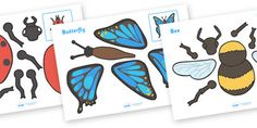 Minibeasts Split Pin Characters - A fun activity, allowing your children to make their own split pin minibeasts! #minibeasts #split_pin_minibeasts