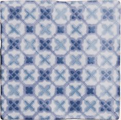 Ormeaux on Papyrus from The Winchester Tile Company Winchester, Provence, Backsplash, Bathroom Ideas, Yellow, Blue, Bathrooms, Tiles, Kitchens