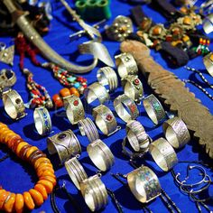 Silver Jewelry For Sale On A Street In Medina Of Chefchaouen,.. Stock Photo, Picture And Royalty Free Image. Pic 40191574.