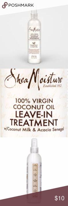 SHEAMOISTURE  100% Coconut Oil Spray Treatment Shea Moisture 100% VIRGIN COCONUT OIL Leave - In Treatment 8 fl oz Spray New  SMOKE FREE HOME  SHIPS SAME DAY! SheaMoisture Other