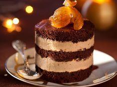 Dacquoise cacao et crème de marrons