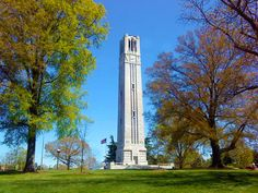 The Belltower at NC State University North Caroline, Nc State University, Southern Charm, College Life, Road Trip, Places To Visit, Tower, Tailgating, Colleges