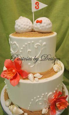 golf theme wedding cake - or anniversary