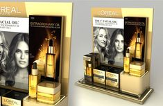 Loreal Dermo Extraordinary Oils Countertop on Behance