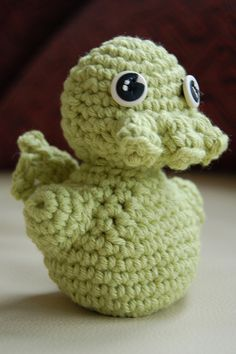 "Amigurumi Cthulhu - I made this from a pattern in the book ""Creepy Cute Crochet"" by Christen Haden"