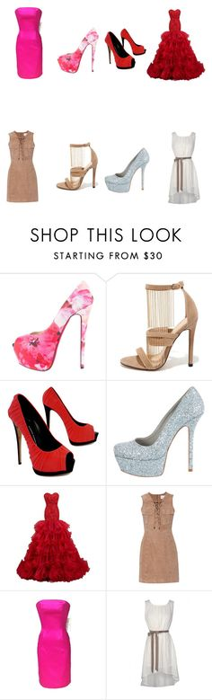 """Untitled #64"" by chinesharris on Polyvore featuring Christian Louboutin, Liliana, Giuseppe Zanotti, Alice + Olivia and W118 by Walter Baker"