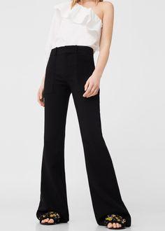 Flared trousers | MANGO