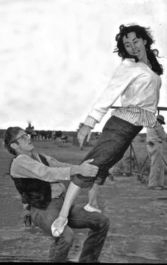 James Dean and Liz Taylor, 1955.