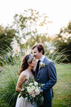lisa + charlie | Penelope Gown by Watters for BHLDN | image via: junebug weddings | #BHLDNbride