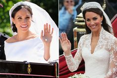 A Side-by-Side Comparison of Kate & Meghan's Royal Weddings Harry And Meghan Wedding, Harry Wedding, Wedding People, Wedding Bride, Princess Meghan, Prince And Princess, Princess Diana, Duchess Kate, Duke And Duchess
