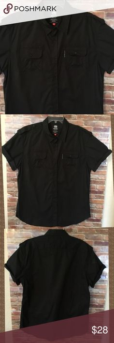 Black Dress Shirt Black button down , short sleeve shirt, with pocket on the front, only wore one time...excellent condition.. Ecko Unlimited Shirts Casual Button Down Shirts