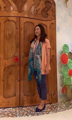 W 様☆可愛いらしいピンクのシャツと夏らしいストールがとってもお似合いです(*^^*)    ご来店ありがとうございます☆