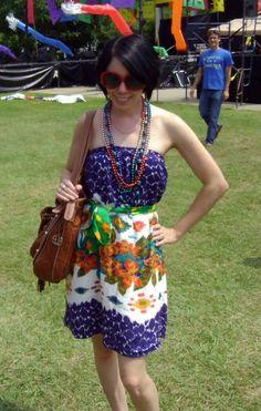 An Amazing Technicolor Dream Dress!