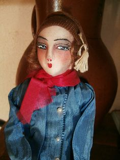 estate saleEXT RARE SMALL FRENCH boudoir DOLL bust* store window DISPLAY *