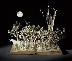 The Latest Paper Sculptures From Su Blackwell 'The Last Unicorn'