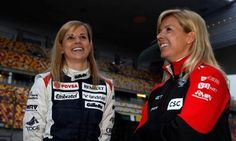 Susie Wolff, Test Driver, Williams F1 Team, and Maria de Villota, Marussia F1, at the Chinese Grand Prix in 2012.