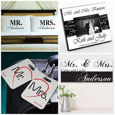 1000 Images About Mr And Mrs Wedding Gifts Favors On Pinterest